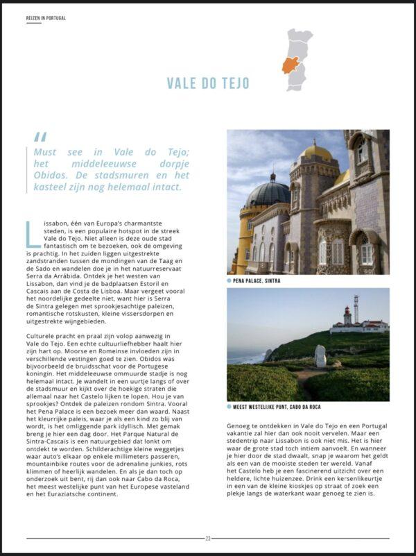 portugal reisgids streken vale do tejo voorbeeld
