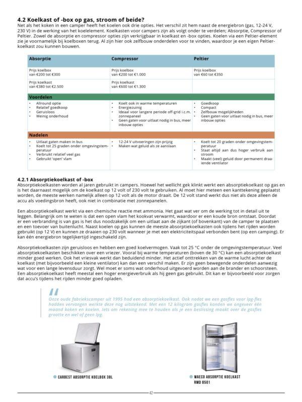 type koelkast zelfbouw camper boek