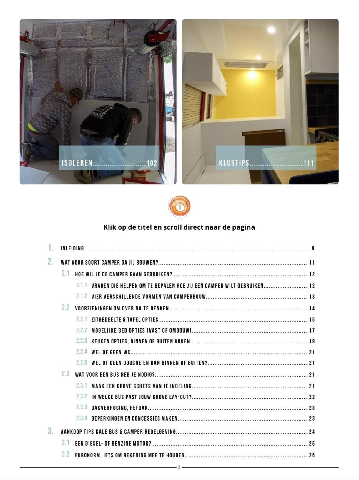 camper bouw ebook inhoudsopgave