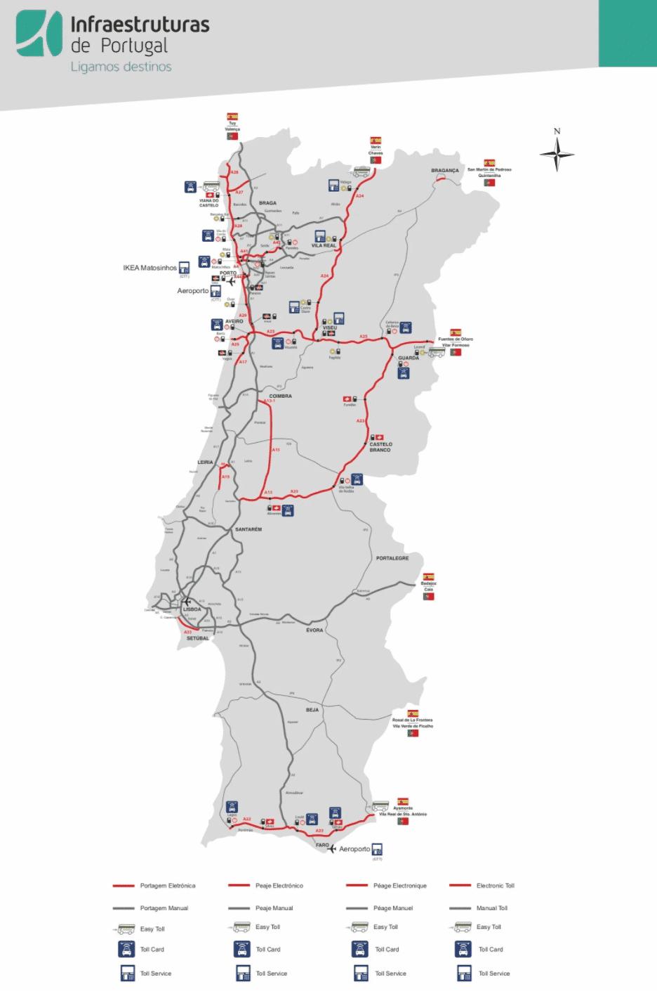 elektronische tolwegen in portugal